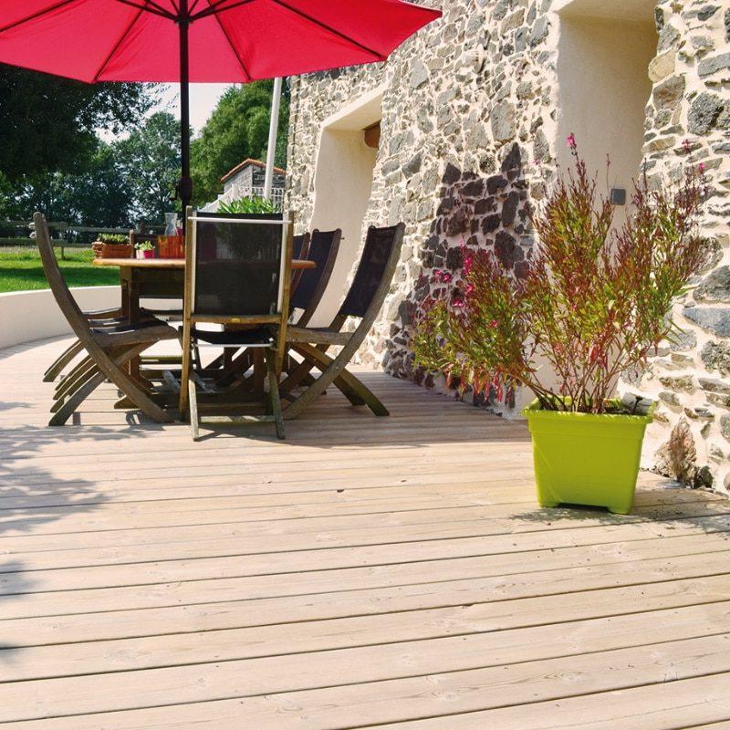 Terrasse en bois européen